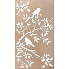 Cuadro metal Pájaros 2  53x98 cm
