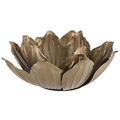 Portavela Lotus dorado 27x11 cm