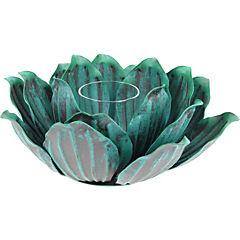 Portavela Lotus turquesa 20x7,5 cm