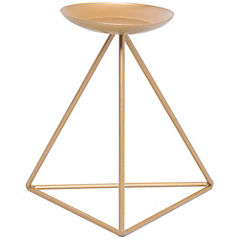 Candelabro Pirámide dorado M