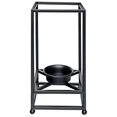 Candelabro 30x15 cm negro