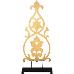 Figura decorativa 52x23x8 cm metal dorado