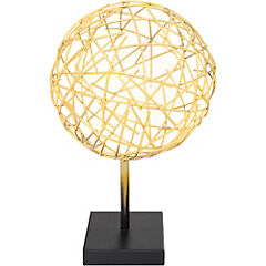 Figura decorativa 30x18 cm metal dorado