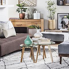Set de 3 mesas Round gris