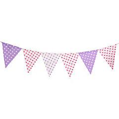 Banderines fucsia y lila
