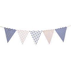 Banderines azul y beige