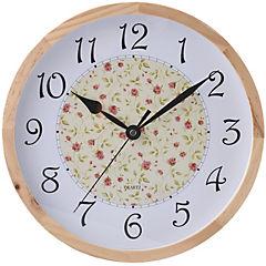 Reloj mural 30 cm madera diseño Floral