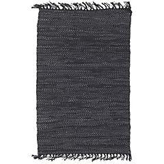 Alfombra Cuero Reciclado 60x90 cm negro