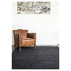 Alfombra cuero recicla negro 120x170 cm