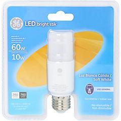 Ampolleta led Bright Stik 10W luz cálida
