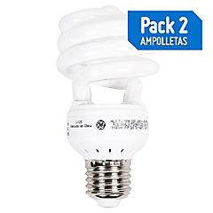 Pack 2 ampolletas espiral 18-95W luz fría