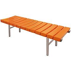 Banqueta de espera 45x45x150 cm naranjo