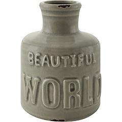 Botella cerámica World café