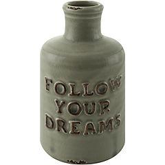 Botella cerámica Dreams verde
