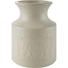 Florero 18x14,5 cm cerámica Crema
