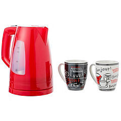 Combo hervidor + 2 tazas rojo