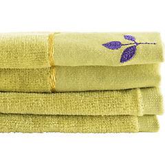 Set de 2 toallas visita pistacho 30x50 cm