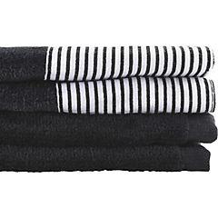 Juego de toallas 380 gr 30x50 cm 2 unidades Negro