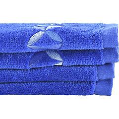 Set de 2 toallas visita azul 30x50 cm