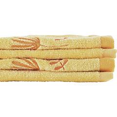 Set de 2 toallas visita amarillo 30x50 cm