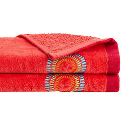 Juego de toallas 380 gr 30x50 cm 2 unidades Coral
