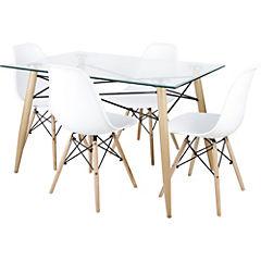 Set de comedor con de 4 sillas Soar 120x80x76 cm