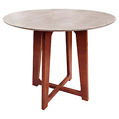 Mesa de comedor Disco 90x90x75 cm blanco