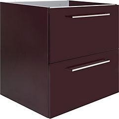 Mueble vanitorio 59,5x56,5x45 cm Berenjena