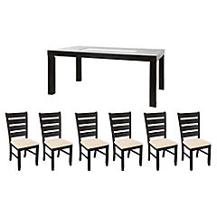 Juego de comedor Lexton 6 sillas Mary