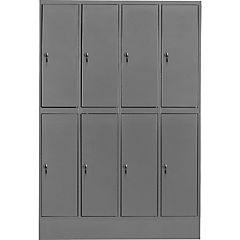 Lockers metálico 4 cuerpos 8 puerta con cerradura y llave maestra