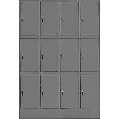 Lockers metálico 4 cuerpos 12 puerta con cerradura y llave maestra