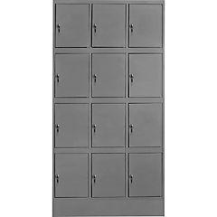 Lockers metálico 3 cuerpos 12 puerta con cerradura y llave maestra
