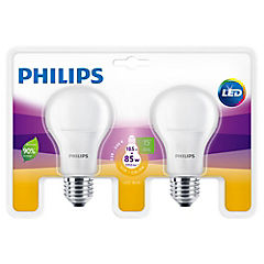 Pack 2 ampolletas led bulb E27 10,5-85W luz cálida