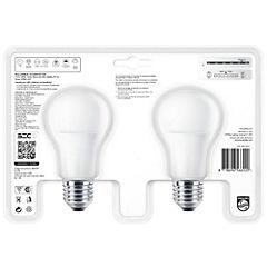 Pack 2 ampolletas led bulb E27 10,5W luz fría