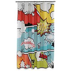Cortina de baño poliéster Comic 178x180 cm
