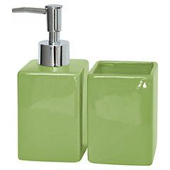 Kit de accesorios para baño 2 piezas Verde