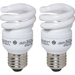 Pack 2 ampolletas mini espiral 8W luz cálida