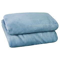 Frazada Flanel azul 1,5 plazas 160x210 cm