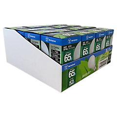 Pack 16 ampolletas ecohalógenas 52W luz cálida