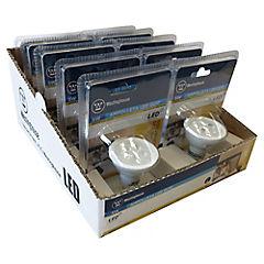 Set de ampolletas LED GU-10 50 W 10 unidades Cálida