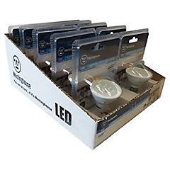 Set de ampolletas LED GU-10 50 W 10 unidades Fría