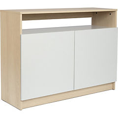 Rack TV Francisco 100x35x75 cm blanco