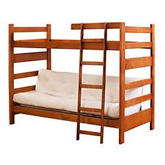 Camarote futón 1 plazas de madera