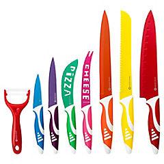Set 8 piezas de cuchillos colores