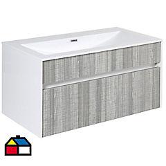 Mueble con lavamanos incluye desagüe 90x48x46 cm