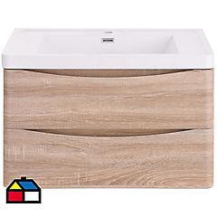 Mueble con lavamanos incluye desagüe 80x48x45 cm