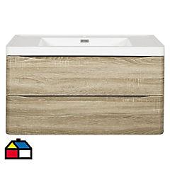 Mueble con lavamanos incluye desagüe 90x48x45 cm