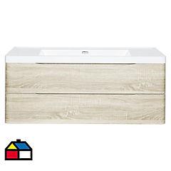 Mueble vanitorio 86x120x48 cm Beige