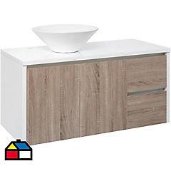 Mueble vanitorio 100x50x46 cm Blanco