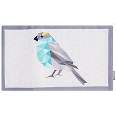 Funda para cojín Bird turquesa 50x30 cm